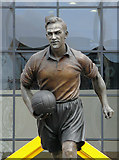 SO9199 : Statue of Billy Wright (detail), Molineux Stadium, Wolverhampton by Roger  Kidd