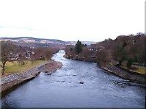 NN9357 : River Tummel at Pitlochry by Gordon Hatton