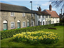 TM0458 : Cottages by the churchyard by Andrew Hill