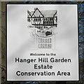 TQ1881 : Sign for Hanger Hill Garden Estate Conservation Area by David Hawgood