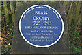 TQ4863 : Blue Plaque for Brass Crosby by Ian Capper
