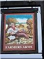 SD3084 : Sign for the Farmers Arms by Maigheach-gheal