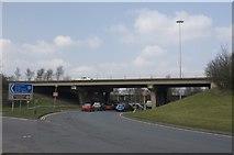 SE2831 : Elland Road West Bridge M621 by Richard Kay