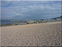 SY6774 : Chesil Beach and National Sailing Academy by Ivan Hall