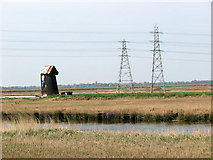 TM4599 : View across the River Waveney by Evelyn Simak