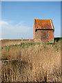 TG4400 : Pump house beside sluice on the River Waveney by Evelyn Simak