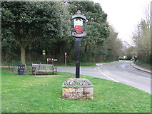 TL7835 : Village Sign by Keith Evans