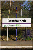 TQ2151 : Betchworth Station sign by Ian Capper