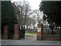 SP0187 : Town end gate of Smethwick Cemetery by Row17