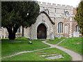 TL6706 : All Saints Church porch Writtle by PAUL FARMER