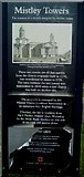TM1131 : Mistley Towers - English Heritage Sign by Tim Marchant