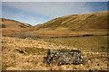 NS9412 : Peden's Stone by Peden Reservoir by Walter Baxter