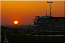 TQ2258 : Sunset on Epsom Racecourse by Ian Capper