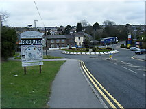 SW6942 : Tolgus Hill roundabout/Welcome to Redruth by Colin Pyle