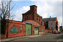 SK5640 : Hooley's Garage and pumping station by David Lally