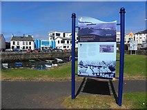 C8540 : Notice, Portrush harbour by Kenneth  Allen