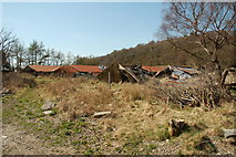 NM9247 : Ruined mink farm, Appin by Donald MacDonald