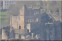 ST5394 : Chepstow Castle on a misty morning by Nick Mutton