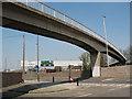 TQ4078 : Footbridge over the A102 by Stephen Craven