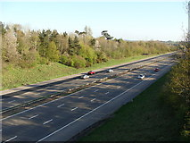 ST0209 : M5 Motorway looking south from near Willand by Ruth Sharville