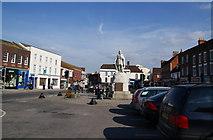SU3987 : The market square, Wantage by Bill Boaden