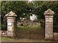 NY7287 : Cemetery Gates near Falstone by wfmillar