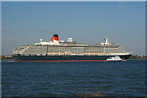 SU4208 : Queen Victoria, Leaving Southampton (2) by Peter Trimming