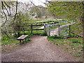 SD8605 : Stile, Alkrington Woods by David Dixon