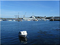SW8132 : Falmouth Harbour by Colin Pyle