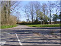 TM3365 : Bruisyard Road Crossroads by Adrian Cable