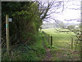 TM0837 : Footpath to Cotswold Poultry Farm & the A12 by Adrian Cable