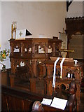TM4560 : St.Andrew's Church, Aldringham Pulpit by Adrian Cable