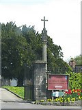 ST4347 : The Cross outside St Mary's Church, Wedmore by Sarah Charlesworth