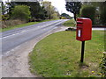 TM4459 : B1121 Aldeburgh Road & Aldeburgh Road Postbox by Adrian Cable