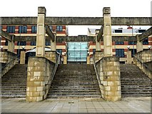 NZ2463 : Steps to Bridge Court from River Tyne promenade by Andrew Curtis