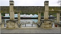 NZ2463 : Steps from Bridge Court to River Tyne promenade by Andrew Curtis