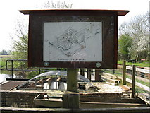 TQ0524 : Schematic drawing of Lording's Lock watermill by Dave Spicer