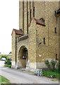 TQ1372 : St Augustine of Canterbury, Hospital Bridge Road, Whitten, London TW2 6DE - Porch by John Salmon