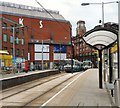 SJ8498 : Shudehill Tram stop by Gerald England