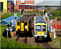 J3474 : Simultaneous departures from Belfast Central by Albert Bridge