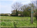 TM1659 : Footpath junction near Pettaugh Hall by Adrian Cable