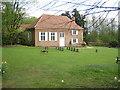 SU9791 : Jordans Quaker Meeting House (2) and deer by Nigel Cox