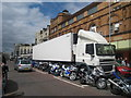 TQ8209 : Stuck Lorry on Pelham Place by Oast House Archive