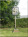 SK7431 : Village sign, Harby by Kate Jewell