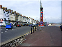 SY6879 : The Esplanade and Jubilee Clock, Weymouth by Brian Robert Marshall
