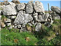 SW4538 : Dry stone wall, Zennor by Philip Halling