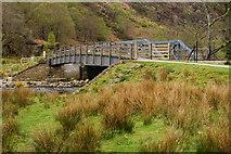 SH5947 : Footbridge Over the Aberglaslyn, Gwynedd by Peter Trimming