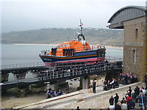 SW3526 : Sennen Cove lifeboat naming ceremony by Rod Allday
