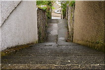 SH5638 : Steps to Pen Cei, Porthmadog, Gwynedd by Peter Trimming