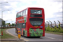 TQ0975 : A hybrid technology bus at Heathrow airport by Roger Davies